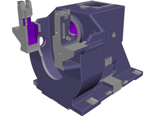 Engine Support CAD 3D Model