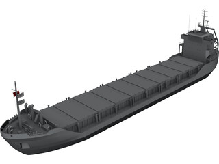 Cargo Ship Wagborg 3D Model 3D Preview
