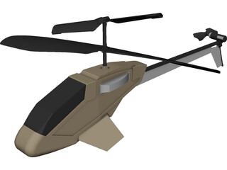 Picco Z RC Helicopter CAD 3D Model