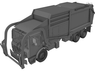 Garbage Truck 3D Model 3D Preview