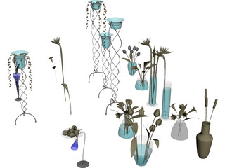 Flowers Collection (19 models) 3D Model
