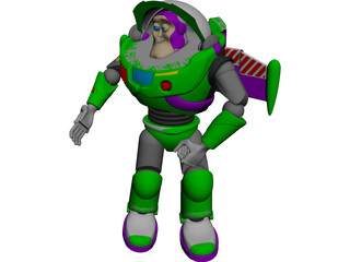 Buzz Lightyear CAD 3D Model