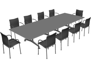 Wilkhahn 440 Meeting Room Table 3D Model