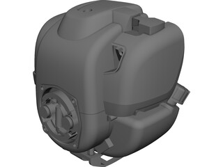 Honda GX270 Engine CAD 3D Model