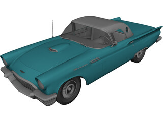 Ford Thunderbird (1957) 3D Model
