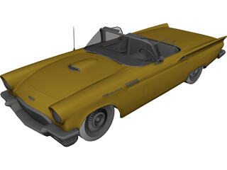 Ford Thunderbird Cabrio (1957) 3D Model