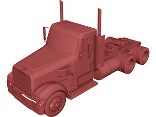 Freightliner Coronado Day Cab 3D Model
