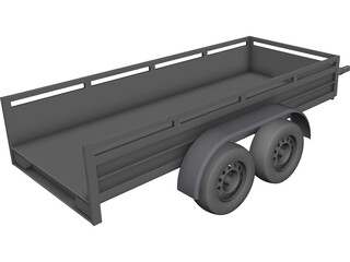 Koch Tandem Trailer CAD 3D Model