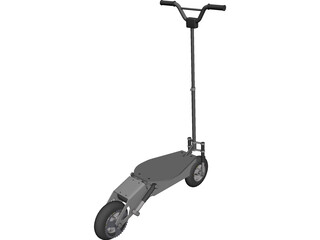 Scooter Electric CAD 3D Model