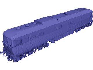 BR232 Locomotive 3D Model