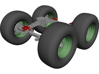 Suspension Rear CAD 3D Model