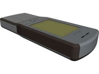 Nokia E50 Mobile Phone CAD 3D Model