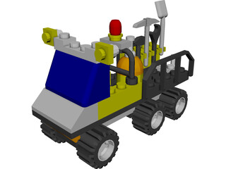 LEGO 6565 Construction Crew Utility Truck CAD 3D Model