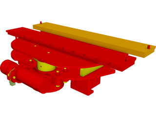 Forklift Rotator Attachment CAD 3D Model
