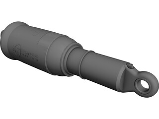 DT Swiss MTB Shock Rear Damper CAD 3D Model