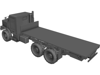OshKosh MTVR MK27 Military 3-Axle Truck CAD 3D Model