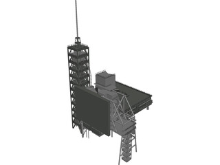 Shuttle Launch Gantry 3D Model