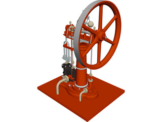 Benson Steam Engine 3D Model
