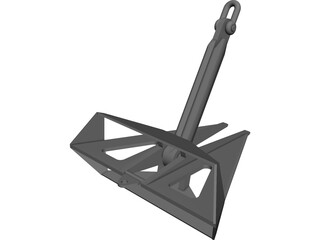 FLIPPER DELTA ANCHOR 7.5TONS CAD 3D Model