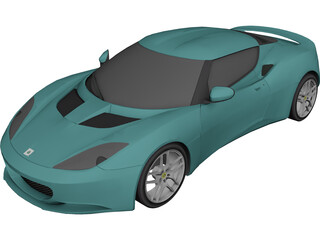 Lotus Evora 3D Model 3D Preview