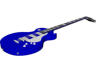 Gibson Electric Guitar CAD 3D Model