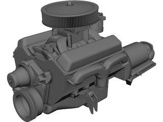 Engine V8 Chevelle CAD 3D Model