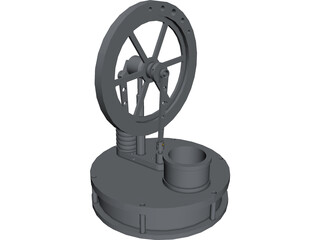 Stirling Engine CAD 3D Model