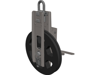 Cable Counting Pulley CAD 3D Model