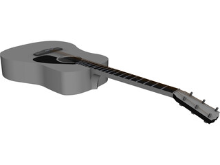 Guitar Acoustic Laptop CAD 3D Model