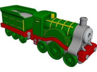 Thomas Locomotive CAD 3D Model