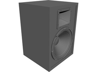 Loudspeaker Box CAD 3D Model