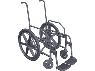Wheelchair Chassis CAD 3D Model