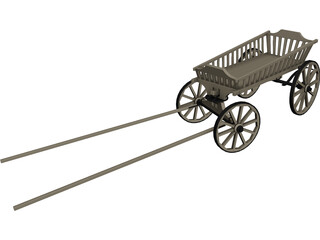 Stagecoach Cart 3D Model