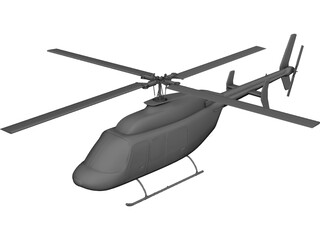 Bell 206 JetRanger 3D Model