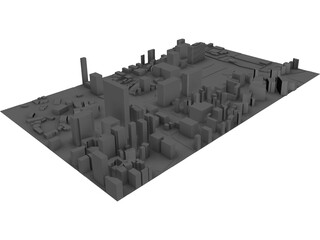 Sejongno in Seoul city South Korea 3D Model