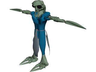 Alien Valanubae 3D Model