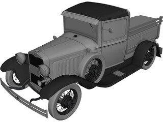 Ford Model A Pickup (1930) 3D Model 3D Preview