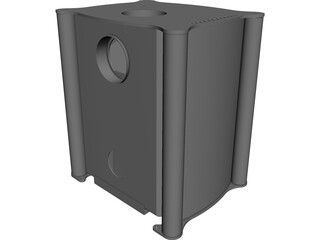 Firebelly FB1 Wood Burning Stove CAD 3D Model