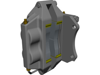Brake Caliper 3D Model 3D Preview
