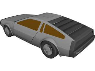 DMC DeLorean (1980) CAD 3D Model