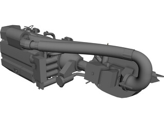 Volvo IPS 750 Engine CAD 3D Model
