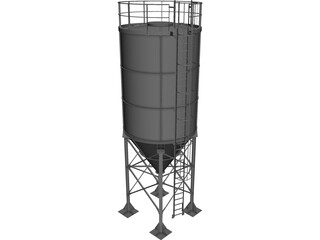 Cement Silo [NURBS] 3D Model