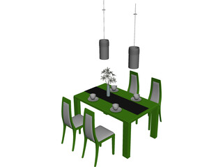 Table Set Dinner 3D Model