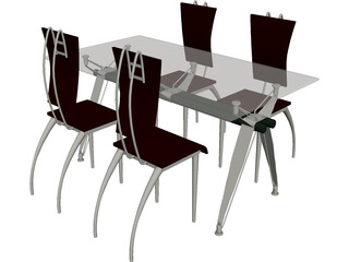 Table Dinner Modern Style 3D Model