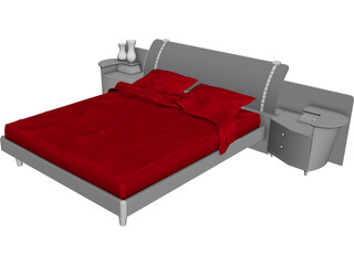 Bed Artistic 3D Model 3D Preview