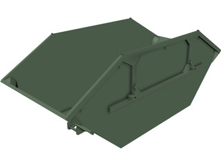 Debris Container 4500 lt CAD 3D Model