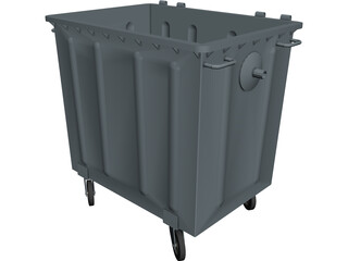 Trash Bins 1000 lt CAD 3D Model