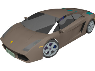 Lamborghini Gallardo CAD 3D Model