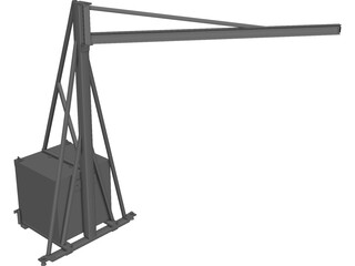 Rotating Beam for Hoist CAD 3D Model
