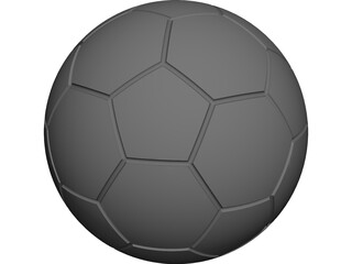Soccer Ball CAD 3D Model